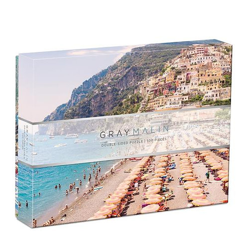 500 Piece Double Sided Gray Malin Puzzle