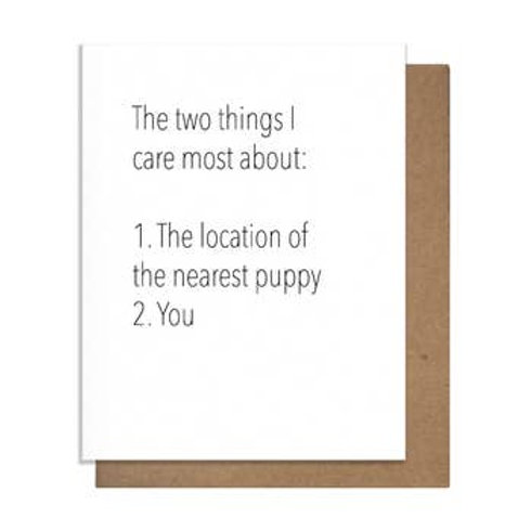Things I Care About Most Greeting Card