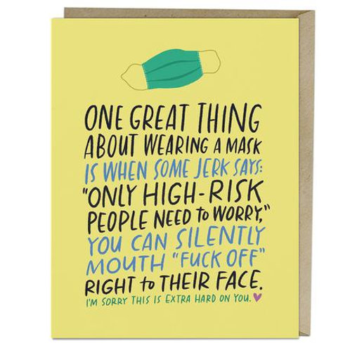 Mask Benefits Greeting Card