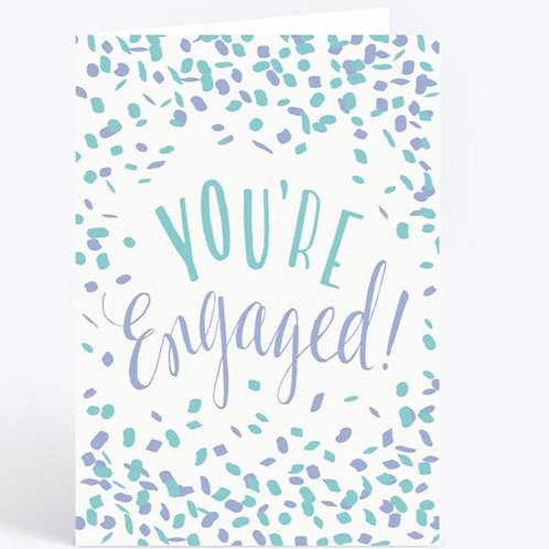 You're Engaged Confetti Greeting Card