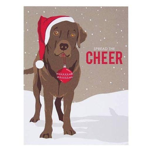 Lab in Hat Greeting Card