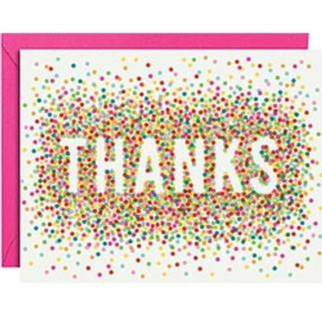 Thanks Colorful Confetti Cards and Envelopes