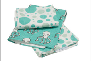 Adventure Octopus Lil' Bitty Burp Cloth Set