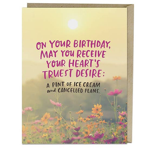Heart's Desire Birthday Greeting Card
