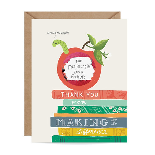 Thank You For Making a Difference Scratch Off Greeting Card