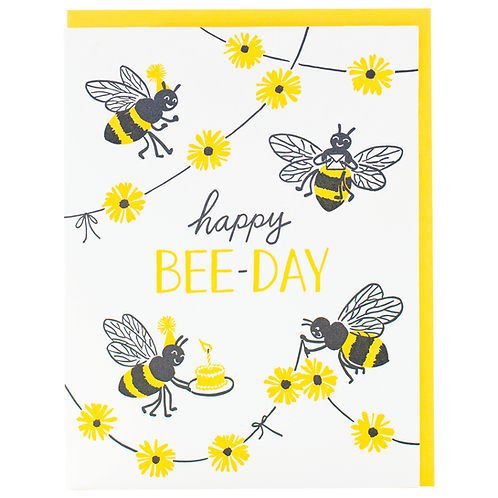 Happy Bee- Day Greeting Card