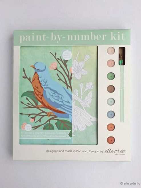 Bird On Cherry Blossom Paint By Number Kit