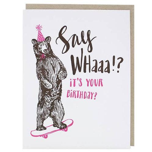 Skater Bear Greeting Card