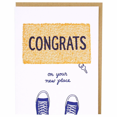 Congrats On Your New Place Doormat Greeting Card