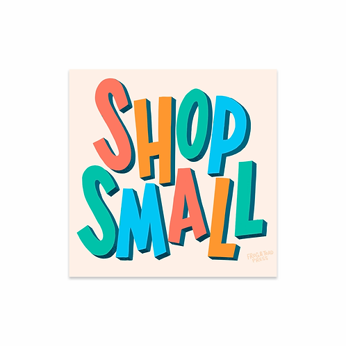 Shop Small Square Sticker