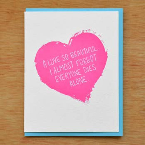 A Love So Beautiful Greeting Card