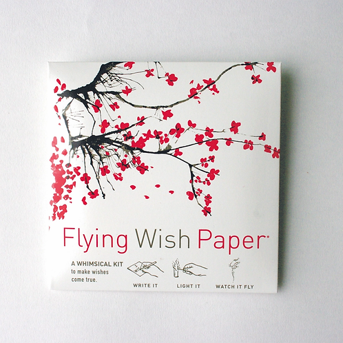 Cherry Blossoms Flying Wish Paper