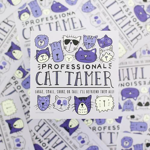 Professional Cat Tamer Sticker