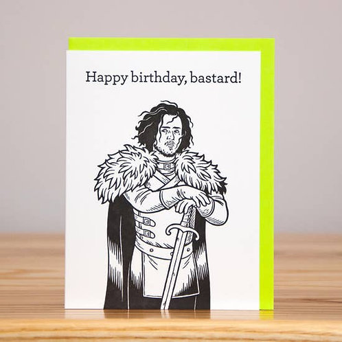 Happy Birthday Bastard Greeting Card