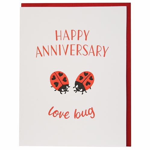 Happy Anniversary Ladybugs Greeting Card