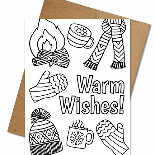 Warm Wishes Coloring Card