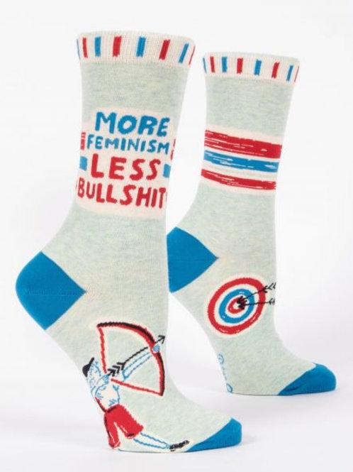 Women's More Feminism Less Bullshit Crew Sock