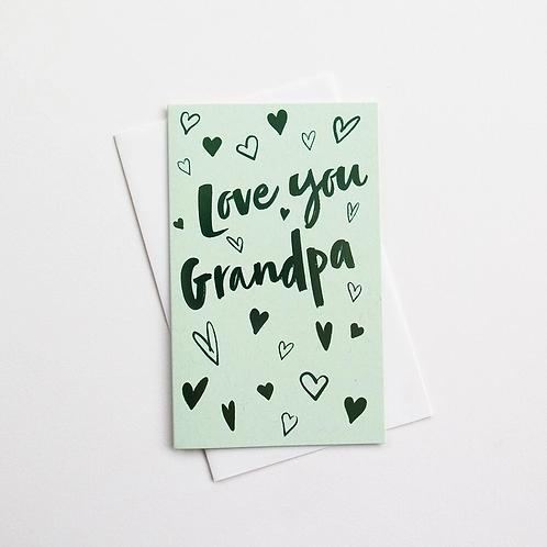 Love You Grandpa Card