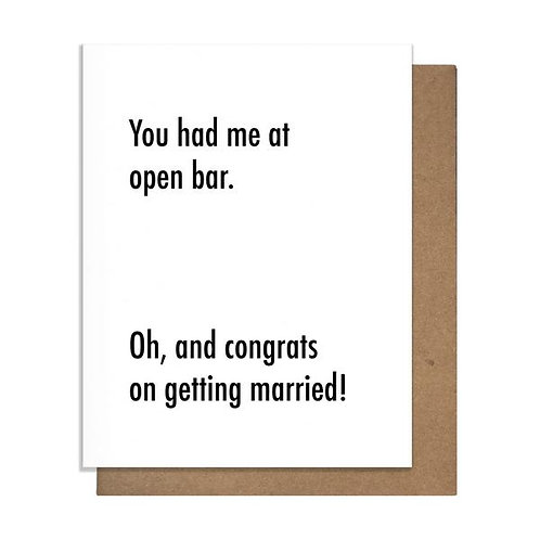Open Bar Greeting Card