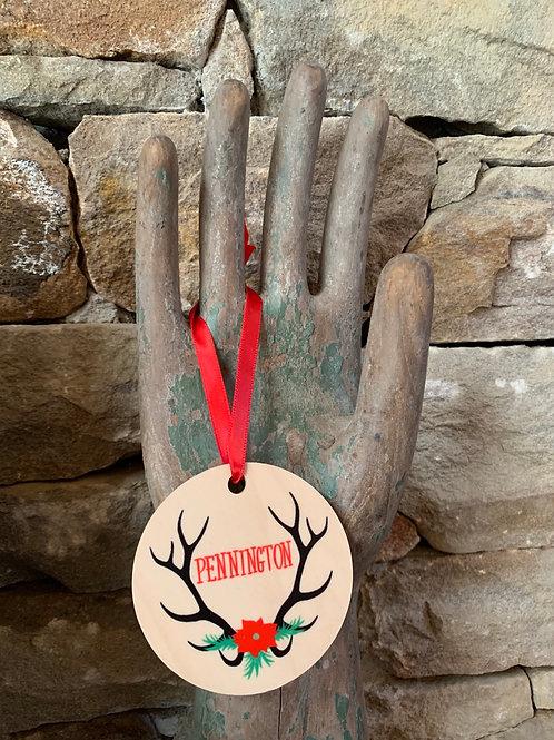 Pennington Antler Ornament