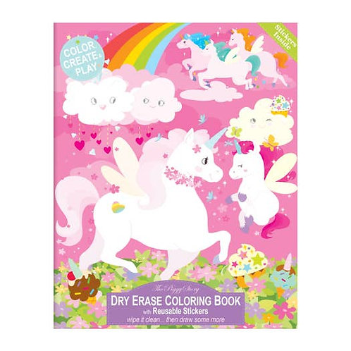 Unicorn and Friends Dry Erase Coloring Book