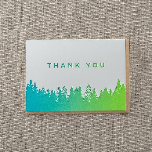 Thank You Spilt Ink Greeting Card