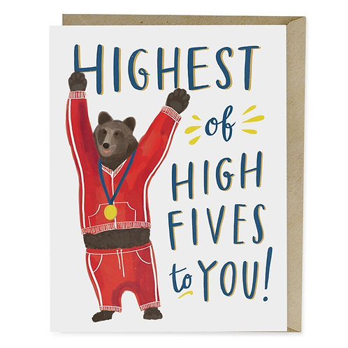 Highest of High Fives Greeting Card