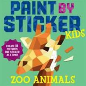 Paint By Sticker Zoo Animals Kids