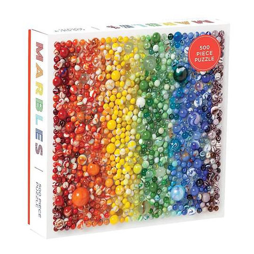 500 Piece Rainbow Marbles Puzzle