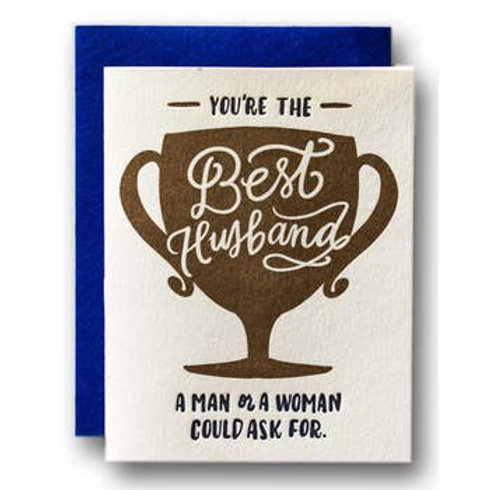 You're the Best Husband Trophy Greeting Card