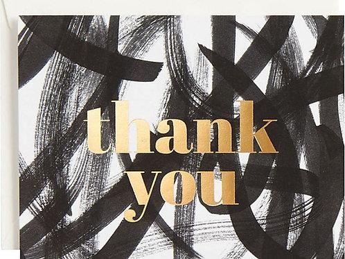 Thank You Black Scribbles Cards & Envelopes
