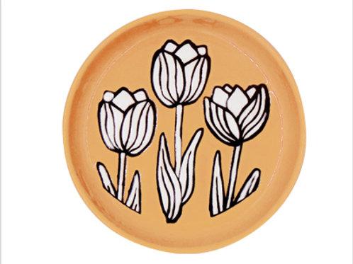 Orange Tulip Cuppa Trinket Dish