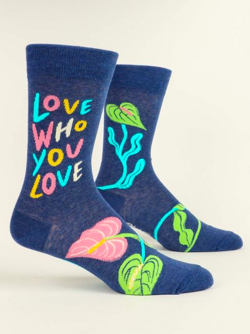 Love Who You Love Men's Crew Sock