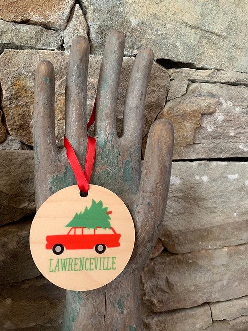 Lawrenceville Car Ornament
