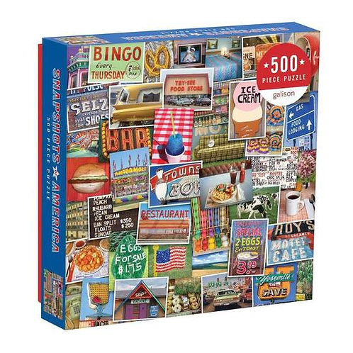 500 Piece Snapshots of America Puzzle