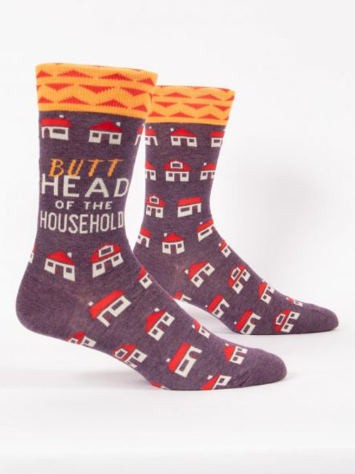 Butthead of the Household  Men's Crew Sock