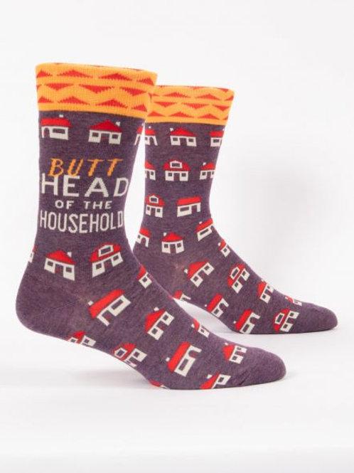 Men's Butthead of the Household Crew Sock