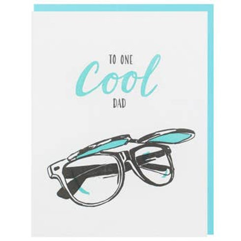To One Cool Dad  Glasses Greeting Card