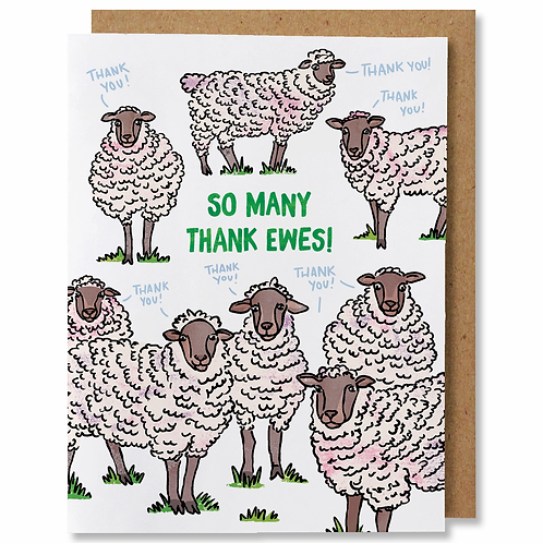 So Many Thank Ewes Greeting Card