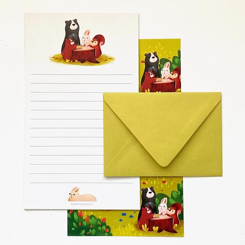 Forest Friends Picnic Letter Set