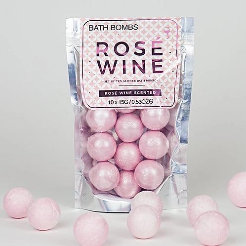 Rosé Wine Bath Bombs