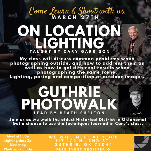 On Location Lighting Class & Guthrie Photowalk