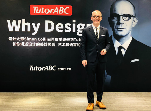 Simon Collins was invited to give a live lecture for TutorABC