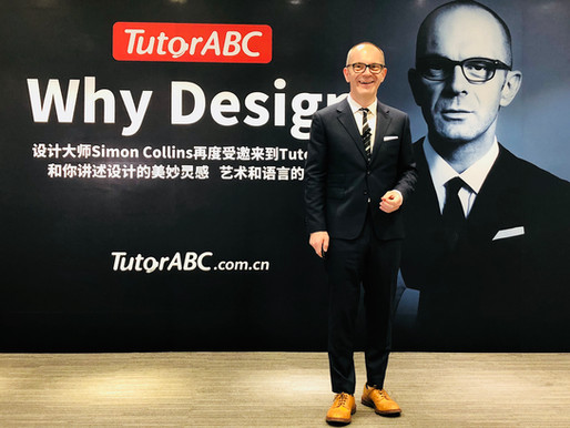 Simon Collins was invited to giv​​​​e a live lecture for TutorABC