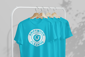 mockup-of-four-t-shirts-hanging-from-a-m