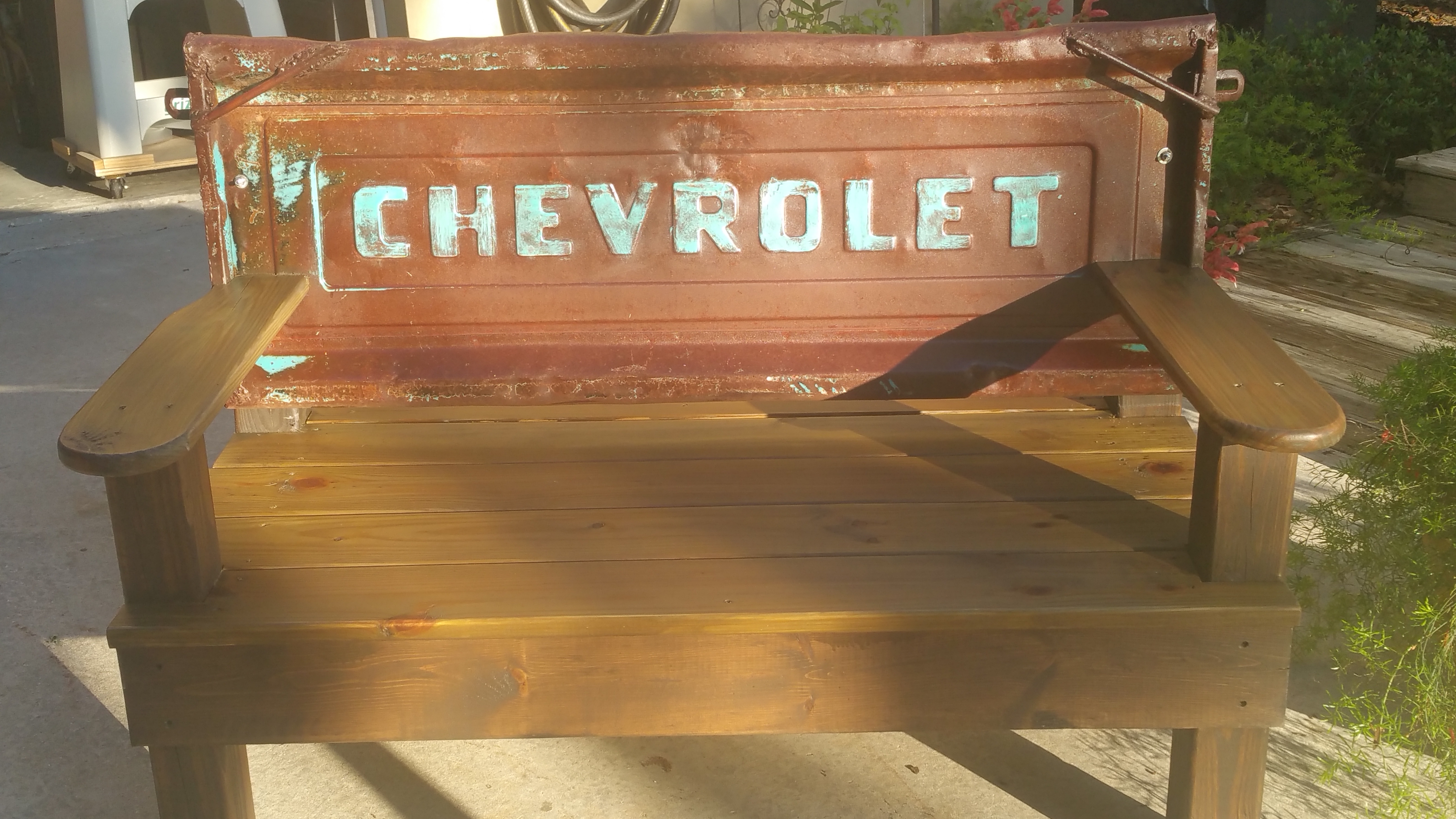 Classic Chevy Tailgate Bench