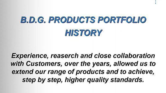 BDG products portfolio history