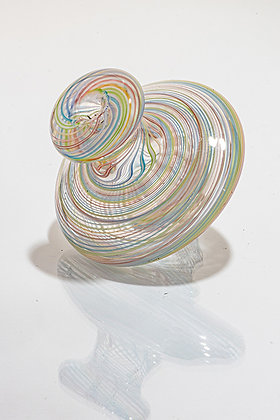 Whit V Transparent Rainbow Linework Directional Cap