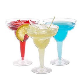 Plastic Margarita Glasses 11.5oz 50ct.