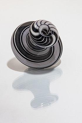 Whit V Black & White Linework Directional Cap